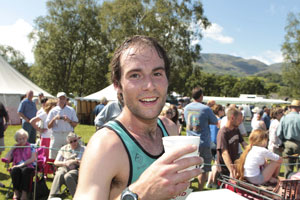 Fell Race Winner at Coniston Country Fair